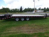 <span class='hidden'></span> Quality Trailers Pintle Deckover Tri-Axle Professional Grade Equipment Trailer
